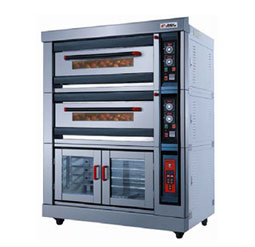 Gas-Fire-Deck-Oven-with-Proofing-Chamber