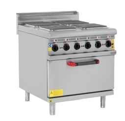 Electric Cooker With Oven 4 Burner-s